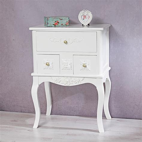 nachttisch vintage weiß vintage schlafzimmer design