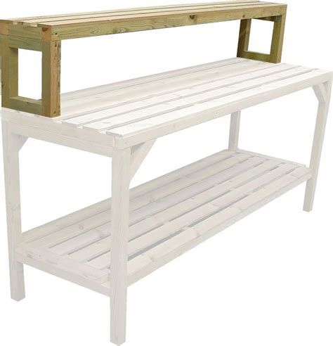 green house benches greenhouse staging bench wooden 6ft uppershelf 10 quot wide