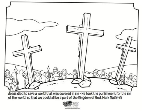 coloring pages jesus died on the cross coloring page from what s in the bible showing jesus