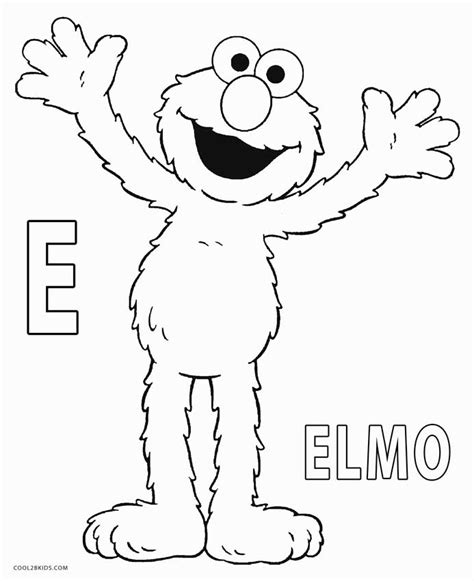 Printable Elmo Coloring Pages For Kids   Cool2bKids Elmo Face Coloring Page