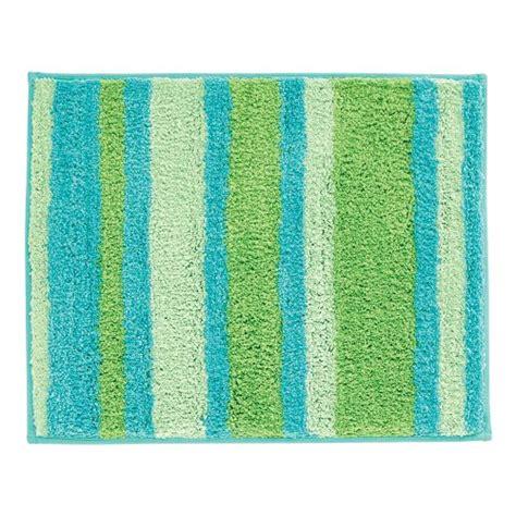 interdesign bath rugs interdesign microfiber stripz bathroom shower accent rug 21 x 17 blue green