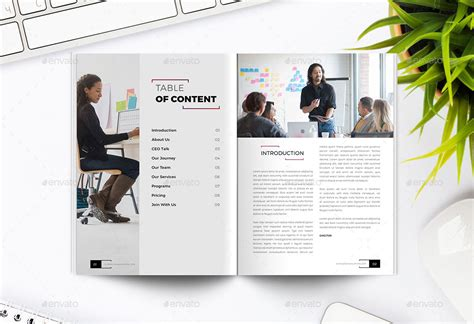 cowork company profile indesign template by peterdraw