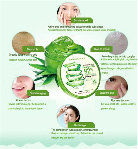 Masker Wajah Dengan Aloe Vera Nature Republic nature republic aloe vera soothing gel original grosir