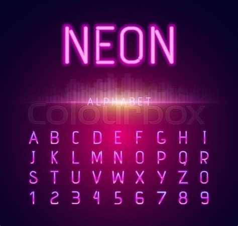 neon light letters font neon alphabet font style flat design neon letters neon