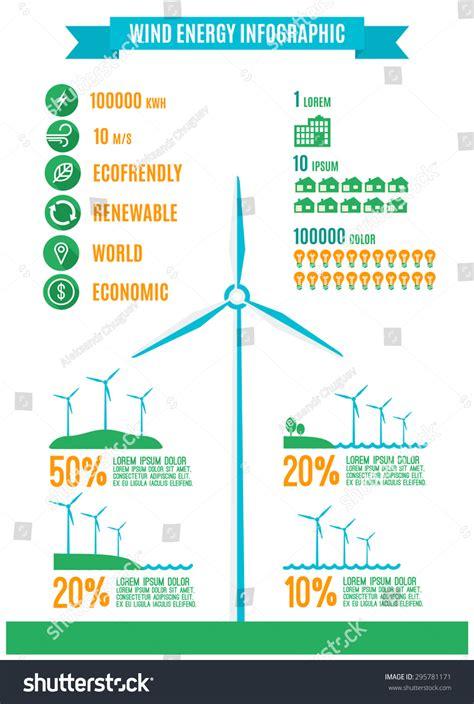design elements radiation new ecology infographicswind energy infograpic flat stock