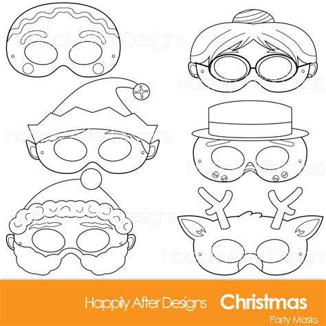 christmas printable coloring masks santa mask snowman mask