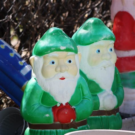 christmas elves plastic lawn ornaments picture free