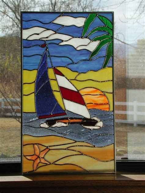 Sailboat Windows Designs 23 Best Images About Rv Windows In Stained Glass On Pinterest Starfish Giraffes And Is