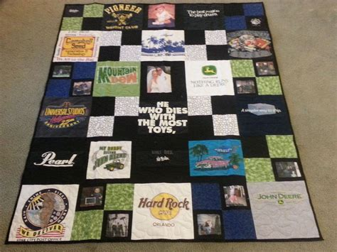 Memory Quilts Made From T Shirts by Handmade T Shirt Memory Quilt By S Longarm Quilting
