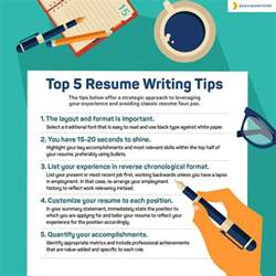 Best Resume Writing Advice Top 5 Resume Writing Tips Your Career Intel
