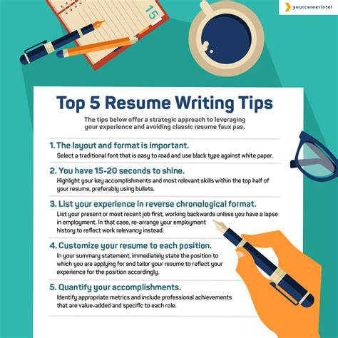 5 Resume Tips top 5 resume writing tips your career intel