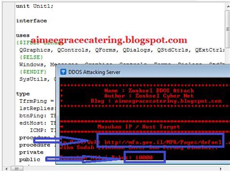 delphi catering tutorial cara membuat program software ddos attack sendiri dengan