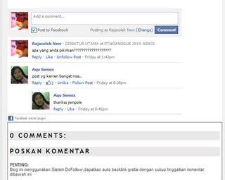 blogger comment tutorial tutorial pasang fb comment rajacolek blumbungan