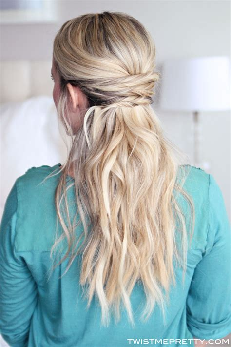 Simple Half Up Half Hairstyles by 15 Casual Simple Hairstyles That Are Half Up Half