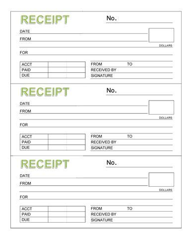 rent receipt template microsoft word rent receipt book three receipts per page microsoft