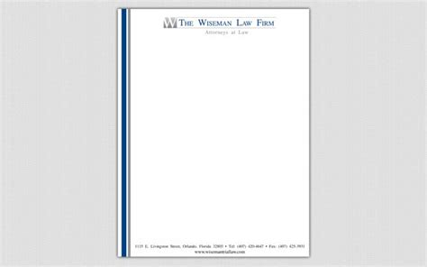 Letterhead Firm Project The Wiseman Firm Firm Business Card Letterhead Orlando Fl Fishpunt