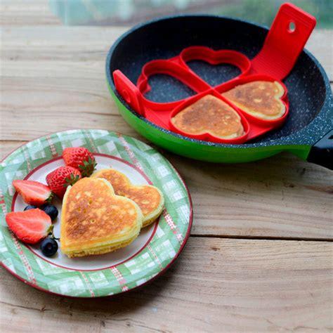 Cetakan Pancake Flower Shaped Pan ebluejay honana cf bw12 silicone pan cake mold non stick