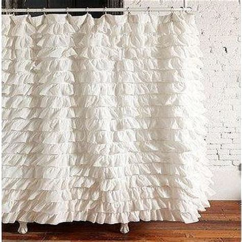 waterfall ruffle shower curtain urbanoutfitters com gt waterfall ruffle duvet cover