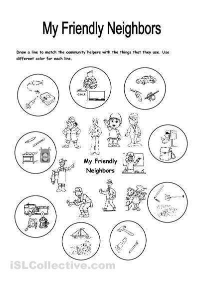 social pattern synonym free printable community helpers activity community