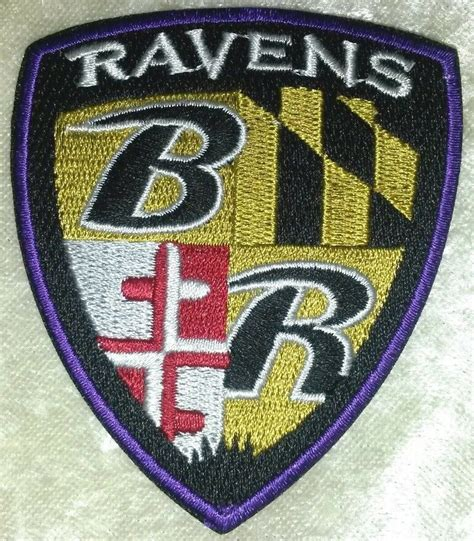 baltimore ravens shield nfl 3 quot iron on embroidered patch