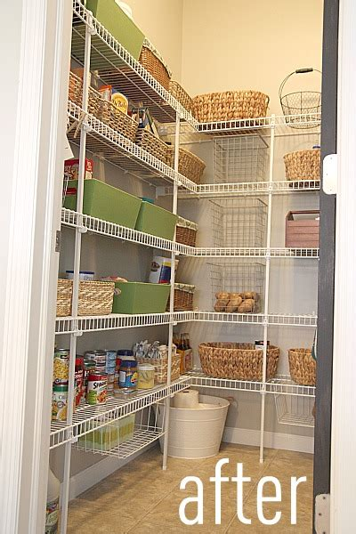 Organizing A Pantry With Wire Shelves by House Tweaking