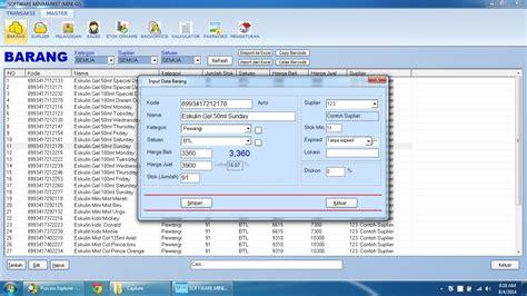 Software Program Aplikasi Kasir Toko Obat Obatan Toko 1d 1 software penjualan dan stok barang