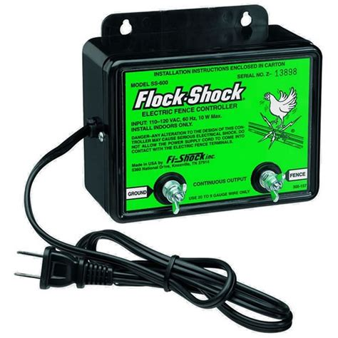shock fence 1 mile ac poultry charger