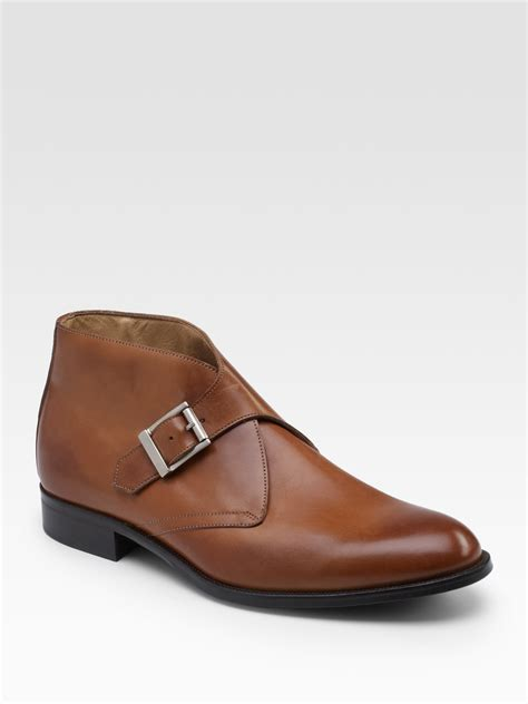 monk boots mens saks fifth avenue monk ankle boots in brown for