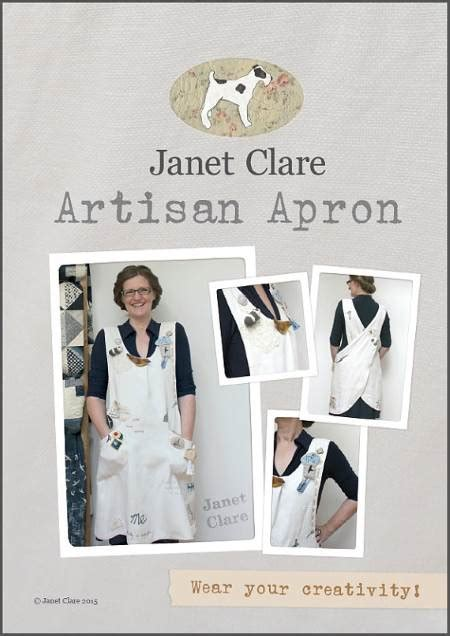 artisan apron pattern janet clare janet clare artisan apron pattern poppy patch
