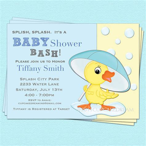 Duck Baby Shower Invitations by Duck Baby Shower Invitations Wblqual