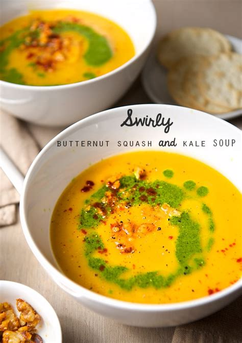Butternut Squash Kale Soup Detox by Swirly Butternut Squash And Kale Soup