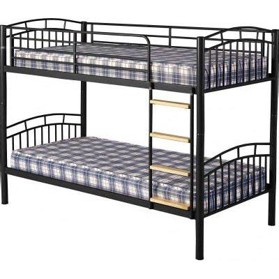 Black Metal Bunk Bed Bunk Beds Uk And Teenagers Furniture In Fashion