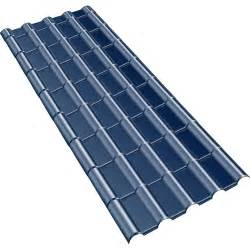 plaque imit tuile composite bleu ardoise plast