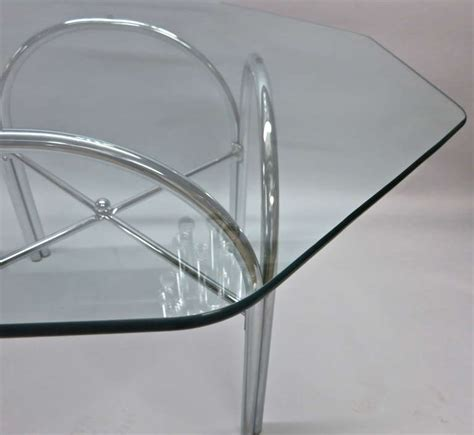 Octagon Glass Patio Table by Outdoor Dining Table With Octagonal Glass Top At 1stdibs