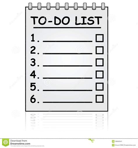 to do with paper to do list stock vector image 38958341