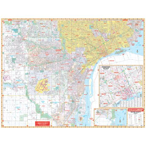 map of wayne county michigan detroit wayne county mi wall map keith map service inc
