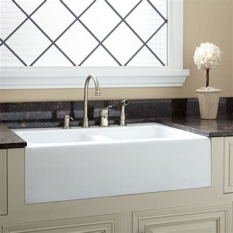 White Porcelain Farm Sink by Drainboard Kitchen Sink Decoration Kitchen Cool And