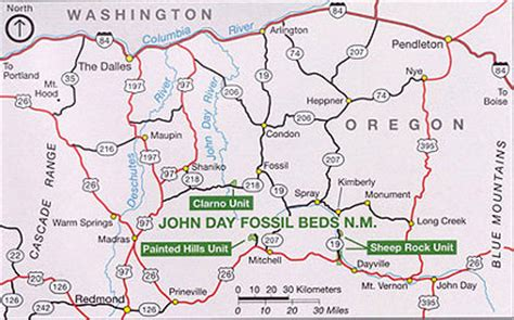 john day fossil beds map information about john day fossil beds national monument
