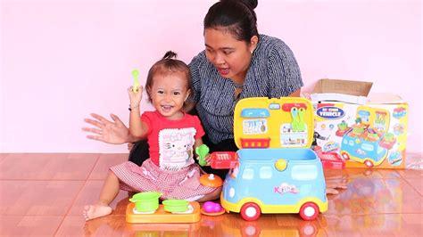 Mainan Masak Masakan Chrome Cooking unboxing mainan anak balita lucu mobil masak masakan kitchen vehicle fast food for