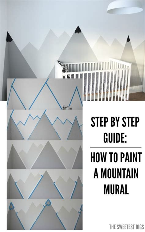 how to paint a diy mountain mural no skills required the sweetest digs