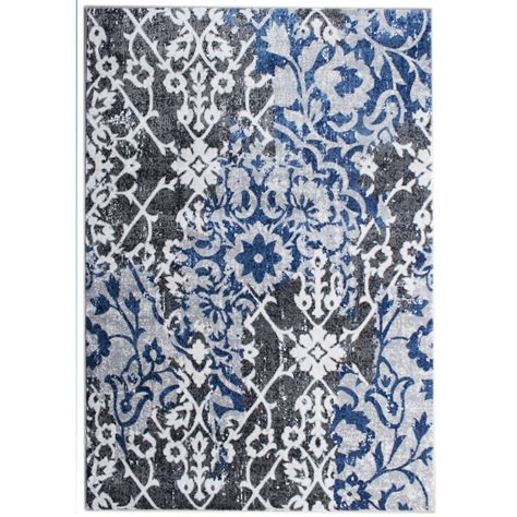 Blue Gray Area Rug Area Rugs Artifact Gray Blue Area Rug Reviews Wayfair