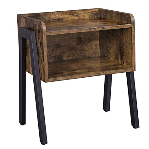 coffee table that opens for storage songmics vintage side table stackable nightstand end
