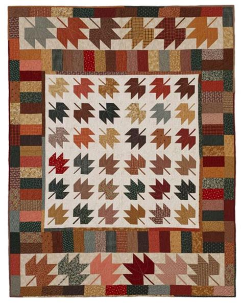 scrappy maple leaves quilting pattern from the editors of