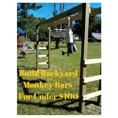 backyard playsets with monkey bars you can build monkey bars in your backyard in a weekend