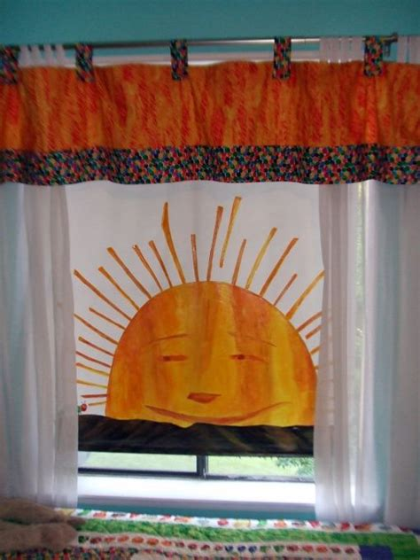 eric carle curtains sun caterpillar and window on pinterest