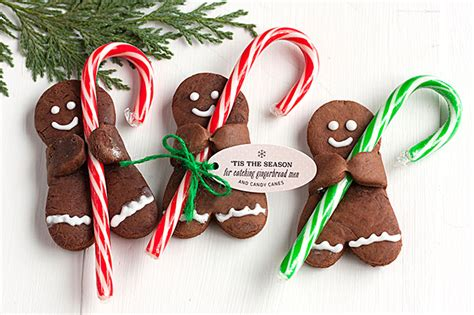 holiday recipe chocolate gingerbread men  candy