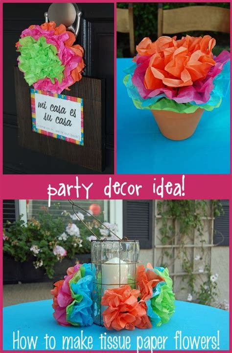 How To Make Mexican Flowers Out Of Tissue Paper - how to make tissue paper flowers great for a summer deck
