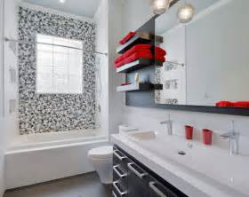 bathroom black red white:  likewise light blue bathroom on small powder room accent wall colors