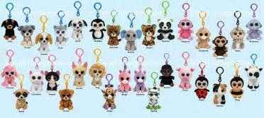 ty beanie boos key clip boo plush soft toy teddy keyring