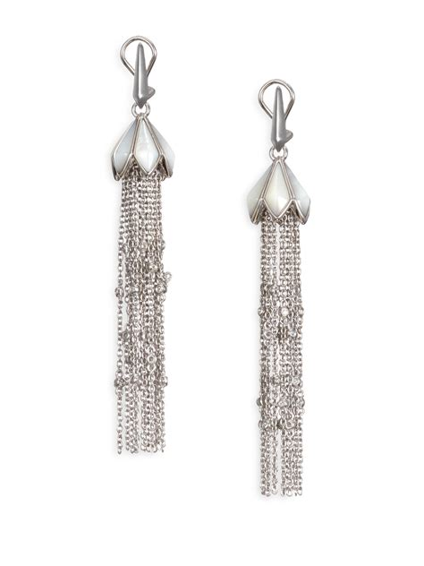 Tassel Earring In Silver stephen webster superstone of pearl sterling